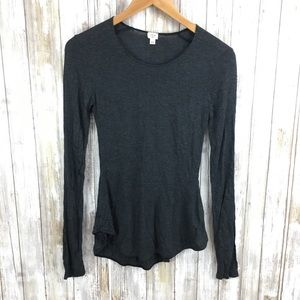 Wilfred XSmall long sleeve charcoal shirt blouse